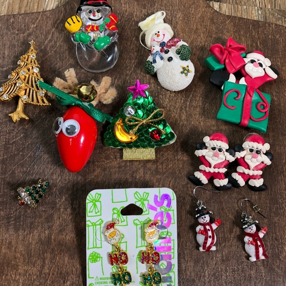 cfc43ceb8 Jewelry | Lot Of Christmas Pins Earrings Brooches Holiday | Poshmark